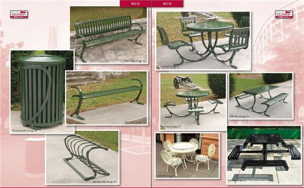 公共休闲座椅公园座椅垃圾桶创意设计图片