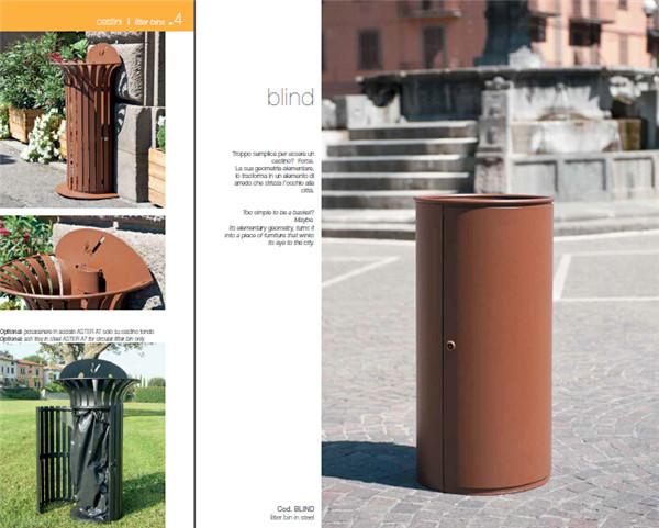 公园座椅垃圾桶花坛广告牌创意