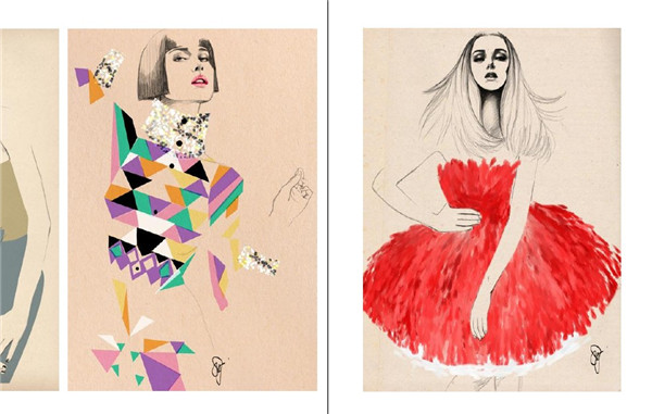 服装素描手稿图册 服装设计服装手稿手绘创意设计