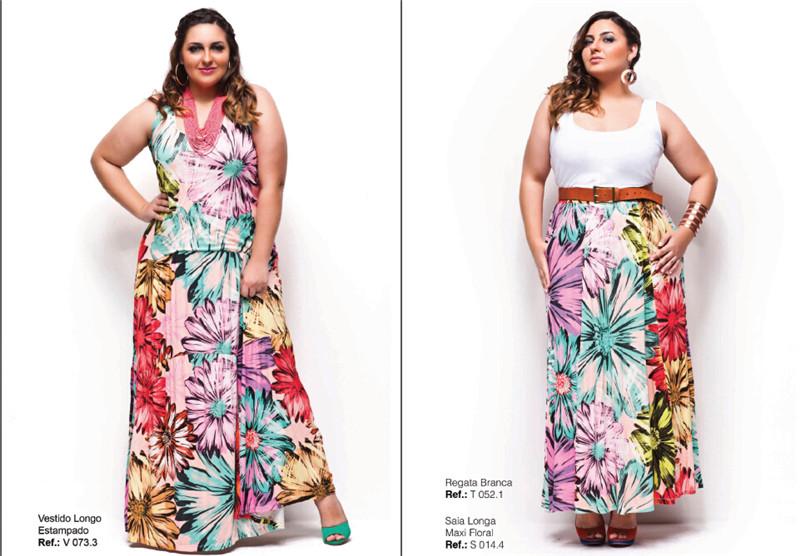 大码服装服饰目录图册 时尚胖女生时装大码模特摄影创意设计素材