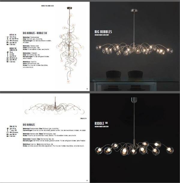 目录图册 创意台灯壁灯时尚吊灯创意设计资料素材