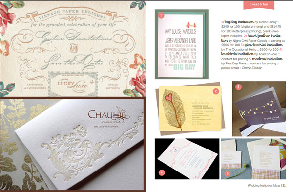 婚礼邀请函邀请信创意设计资料素材