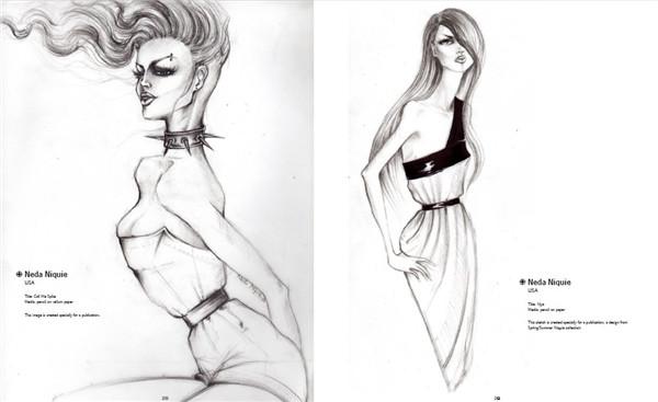 时装手绘图册 时装手绘手稿创意设计素材