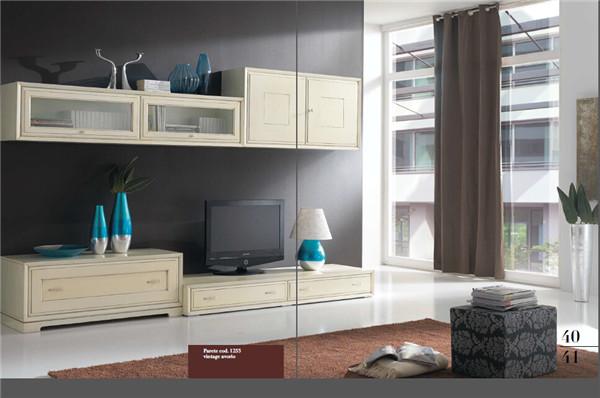 书柜电视柜一体图片 欧式