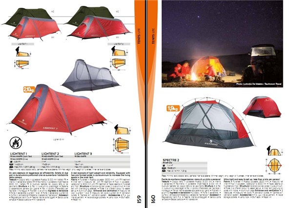目录图册 户外运动服装包袋帐篷睡袋创意设计素材