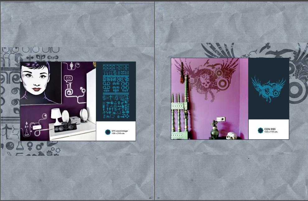 墙纸墙绘装饰花纹图案创意设计资料素材