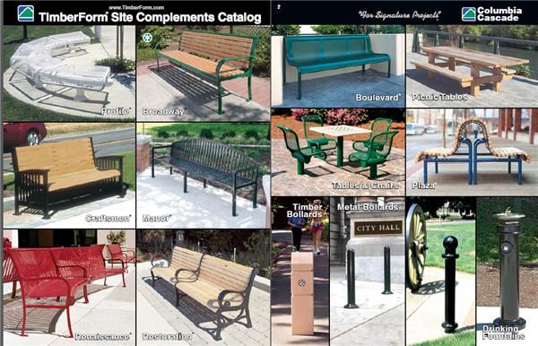 公共休闲座椅公园座椅垃圾桶创意设计