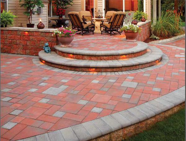 庭院石材地板围墙装饰设计实景效果图参考素材