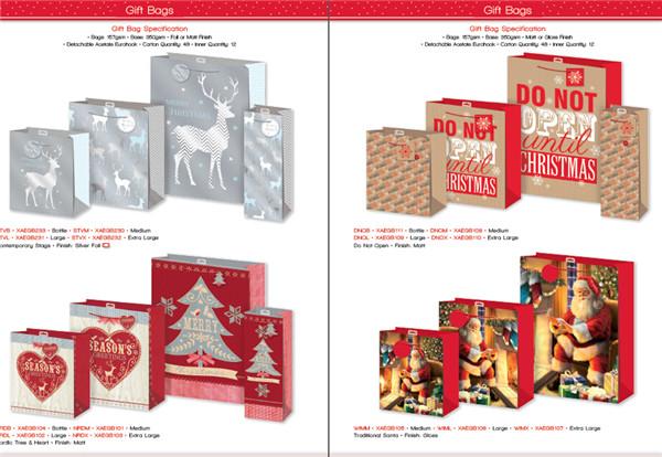 圣诞礼品包装袋糖果包装盒创意设计资料素材