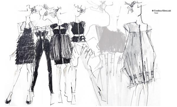 服装素描手稿图册 服装设计服装图片