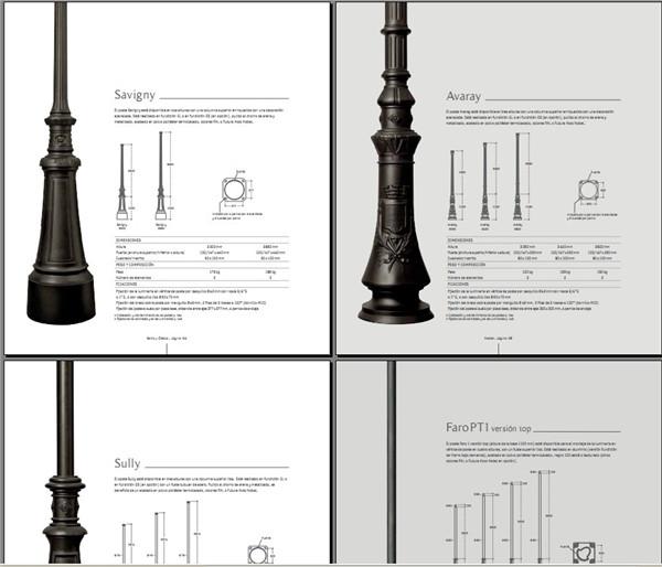 路灯目录图册 路灯安装施工创意设计资料素材