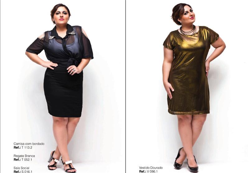 时尚胖女生时装大码模特摄影创意设计素材