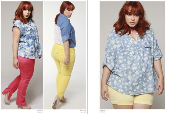 julia 大码服装目录图册 时尚胖女生时装大码模特摄影创意设计素材