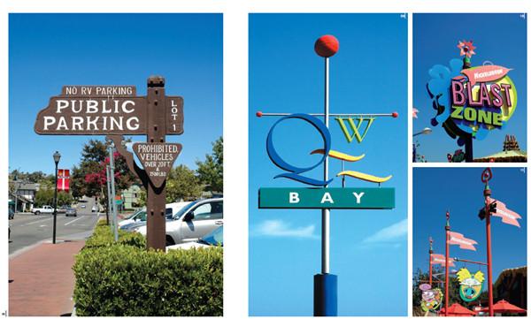 公共导视牌标志牌指示牌创意设计素材